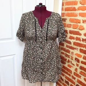 Pure Energy Ditsy Floral Tunic / Shirt Dress 3x